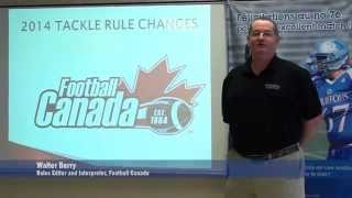 Tackle Football Rule Changes 2014