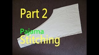 Pajama (Stitching)| Ladies Pants(Trouser)| How To Cut Simple Pajama(Stitching)| Easy Method | Part 2