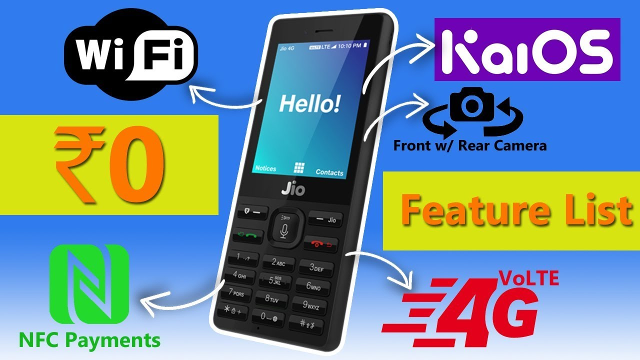 LYF Jio Phone   4GB + 512MB, WiFi, GPS, KaiOS 2.0 & lots