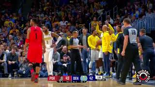 Portland Trail Blazers vs Denver Nuggets - Full Game Highlights - April 9, 2018