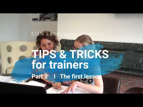 Tips & tricks for trainers, #2