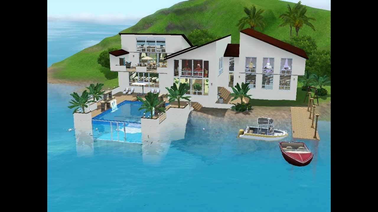 sims 3 haus bauen let 39 s build familienidylle am meer youtube. Black Bedroom Furniture Sets. Home Design Ideas