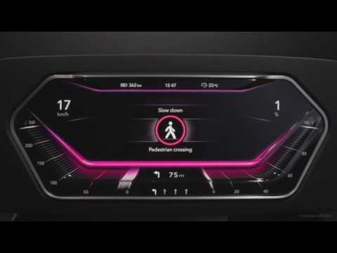 3D display surface for digital instrument cluster in car dashboard