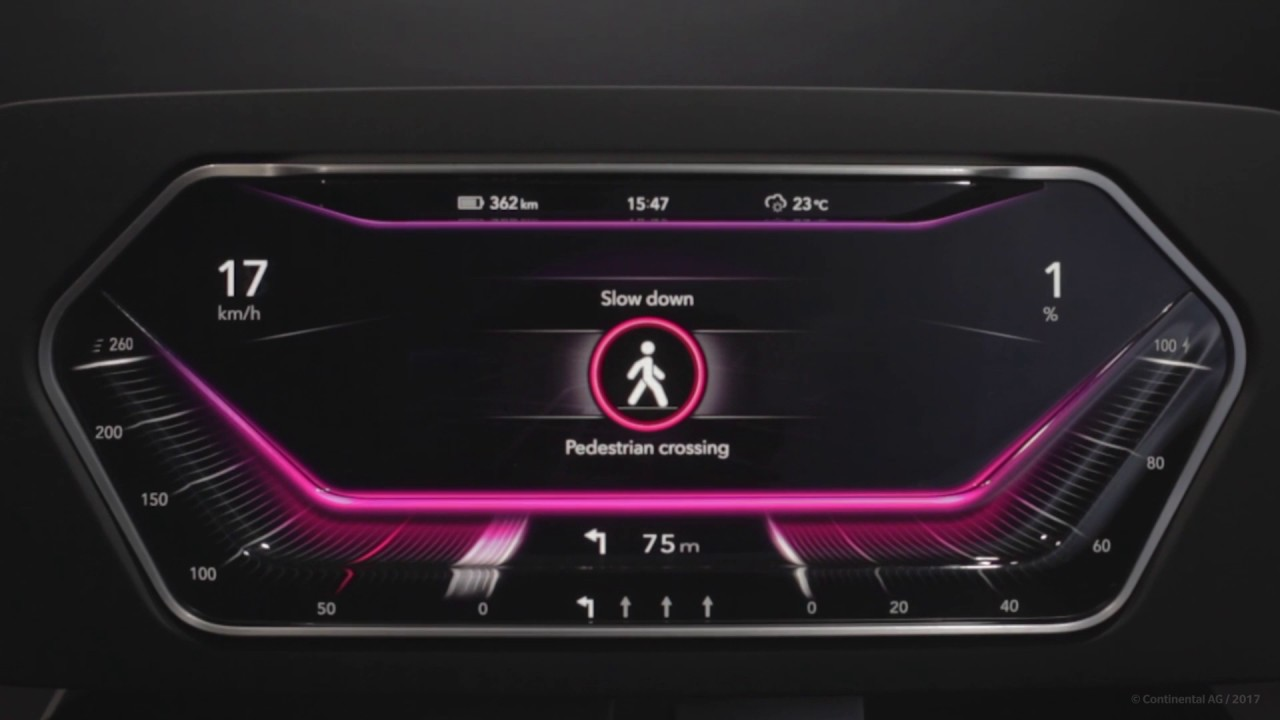 Display Surface For Digital Instrument Cer In Car Dashboard