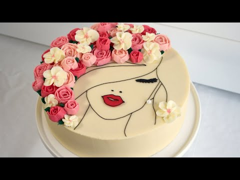 Floral Face Cake! - Cake Decorating