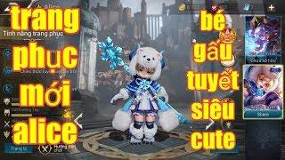 Liên Quân Mobile _ Trang Phục Mới Alice Bé Gấu Tuyết Siêu Cute | Hiệu Ứng Cực Đẹp
