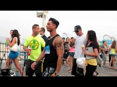 Jersey Shore cast filming season 5 in Seaside Heights HD