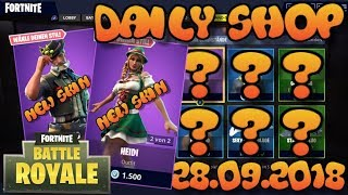 Fortnite New Item Shop 28.09.2018 Fortnite ITEM SHOP Daily Shop 28 septembre New Skins