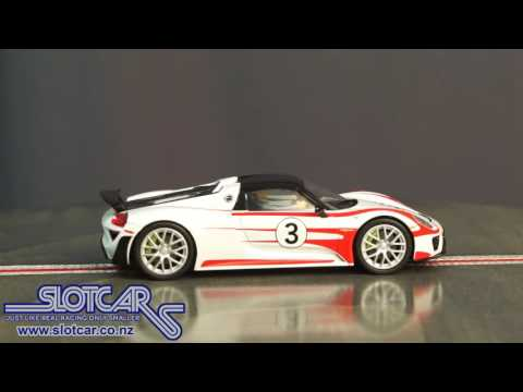 Carrera Slot Car Porsche 918 Spyder Hybrid Weissach Supercar #3 Slotcar 27477