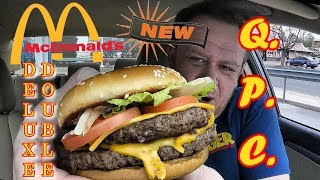 McDonald's ☆DELUXE Double Quarter Pounder w/Cheese☆ Food Review!!!