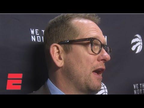 Nick Nurse breaks down Raptors' final play vs. James Harden | NBA on ESPN