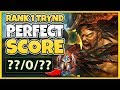 #1 TRYNDAMERE WORLD PERFECT KDA IN CHALLENGER (UNREAL SKILL) - League of Legends