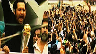 Sarfraz Ahmed Showing Champions Trophy to Fans at House Balcony - Express News