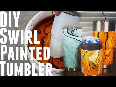 DIY - HOW TO HYDRO DIP USING SPRAY PAINT *Yeti Cups*
