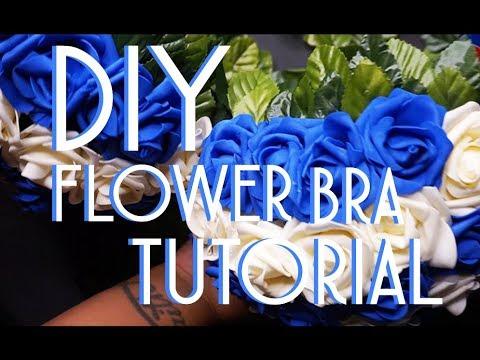 DIY FLOWER BRA | RAVE BRA | SimplyShai