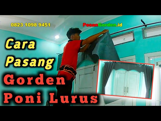 Tutorial Pasang Gorden Model Poni Lurus - 082310989451 / 085287651175 #tutorial