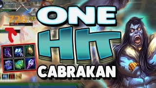 Smite: One Hit Cabrakan Build - INSANE DAMAGE IN SUCH LITTLE TIME!