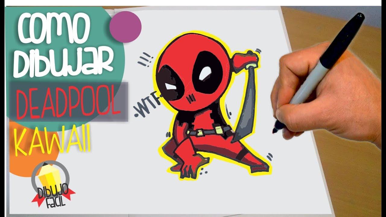 DEADPOOL como dibujar a deadpool - dibujos kawaii paso a paso - how ...