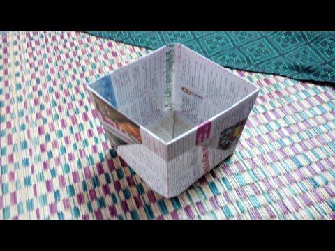 How To Make Paper Dustbin l Ban Plastics l Mobile Tech Tamil