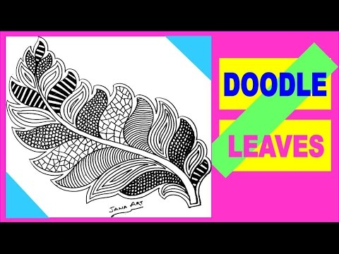 Leaves Doodle Art Step By Step Tutorial Youtube