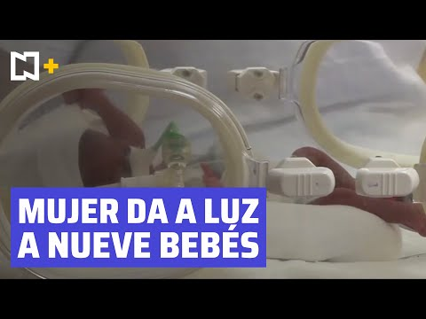 Mujer originaria de Mali da a luz a nueve bebés