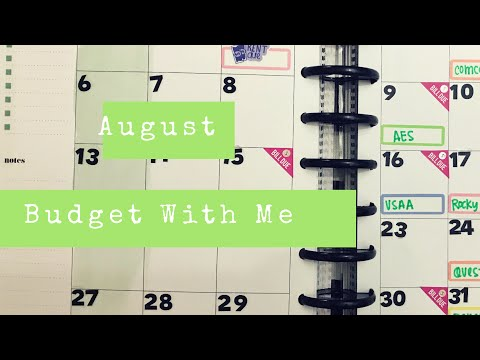 August Budget With Me // Happy Planner®