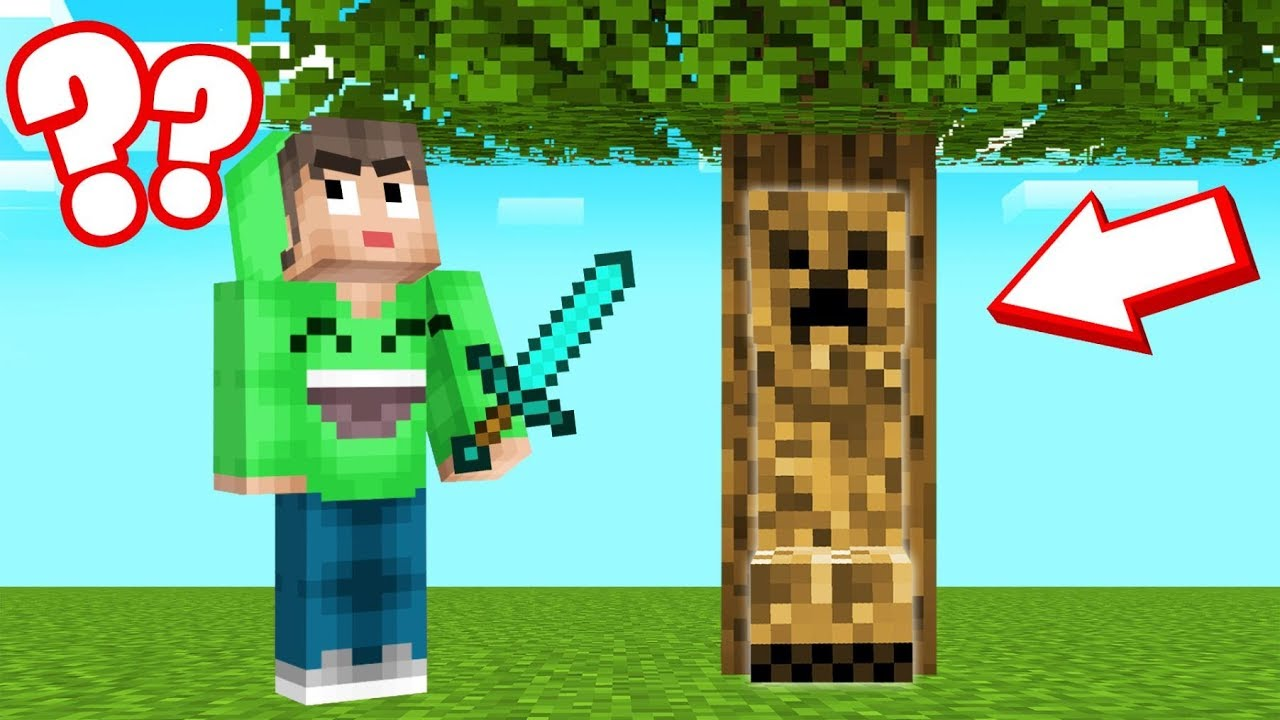 CREEPERS Are CAMOUFLAGED In MINECRAFT! (Find Them) thumbnail