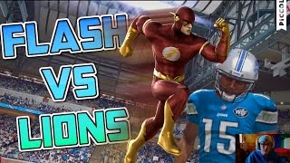 CAN FLASH PREFORM LIKE A SUPERHERO vs the LIONS?? Madden 16 Challenge Series (5)