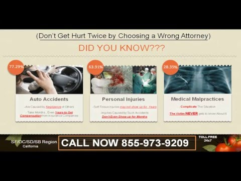 @844-593-1173 Best Auto Accident/Personal Injury Attorney/Lawyer SF OC SD SB CA