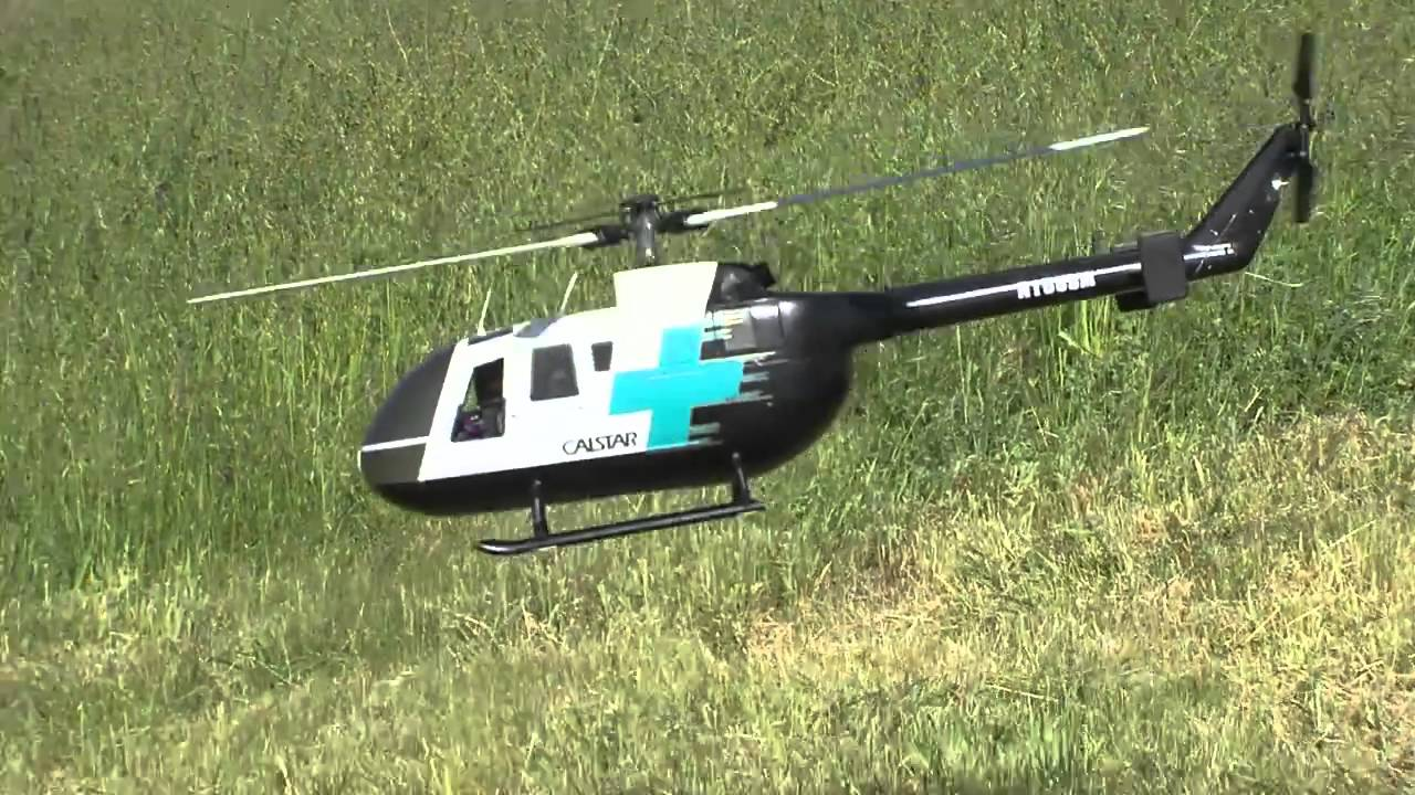 Graupner Bo 105 Electric Conversion With Scorpion Motor