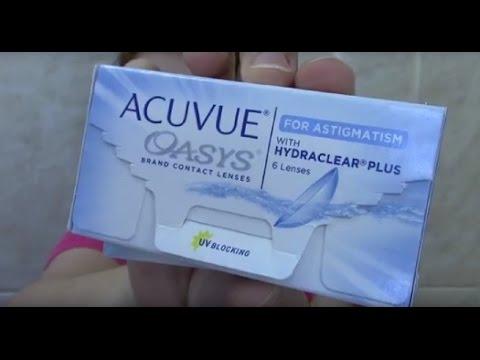 LENTE TÓRICA - Lente de contato para astigmatismo + miopia hipermetropia - Acuvue  Oasys - YouTube aec77041ff
