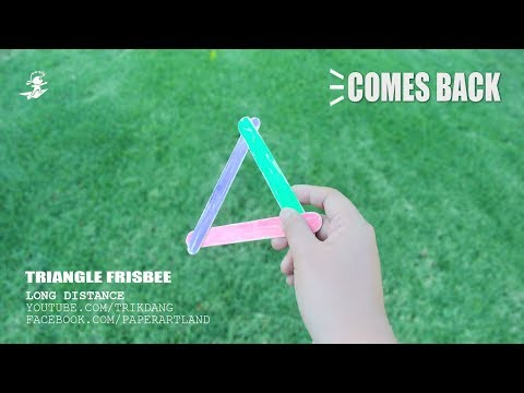DIY FRISBEE - How to make an EASY BOOMERANG - Returnable Flying Toy | Triangle Boomerang