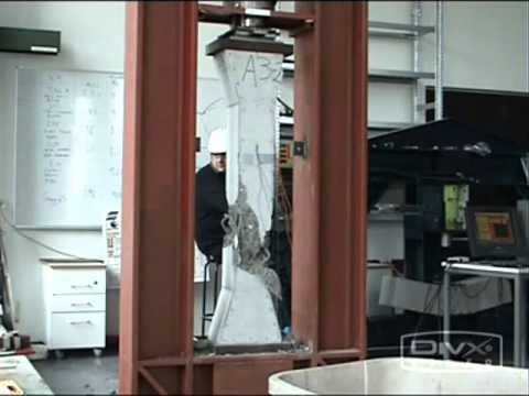 Test Of Reinforced Confined Concrete Columns Youtube