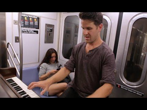 PIANO ON A NEW YORK CITY SUBWAY TRAIN