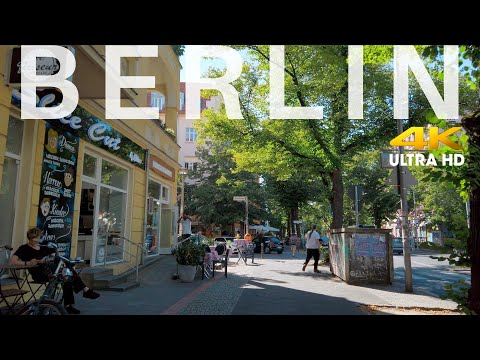 Berlin Walking in Pankow Florastraße [4K] Summer 2020 Soundscape | City sounds, relaxed town living
