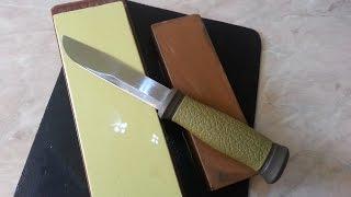 Заточване на нож Mora 2000