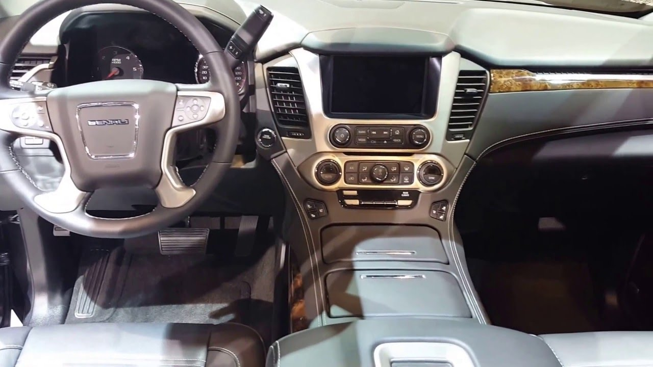 2016 gmc yukon denali interior 2016 chicago auto show. Black Bedroom Furniture Sets. Home Design Ideas