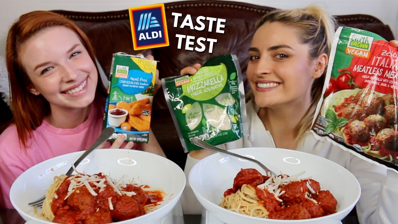 Trying Vegan Items from ALDI! Mukbang and Taste Test