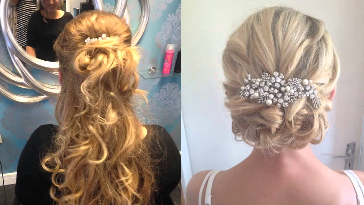 wedding hair half up half down for short hair hairdresser dartford kent