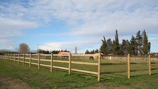 Projet clôture bois chevaux  - Vidéo Horse Stop