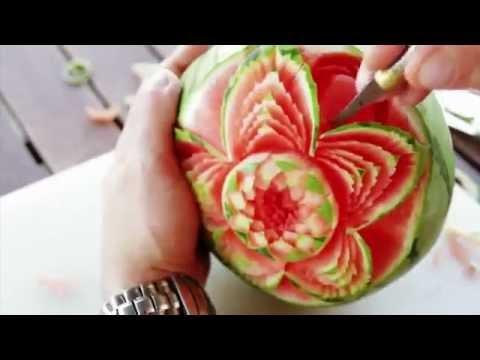 Arte Em Fruta Escultura Em Melancia Youtube
