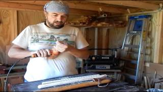 How to Make a traditional 6 hole Native American Flute Part 2