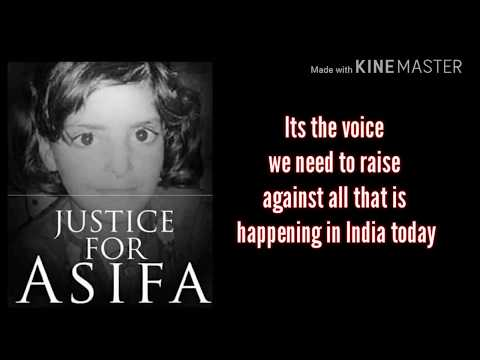 Justice for asifa-English poem written by Lisha b Jain and voice by dikshita k Jain..
