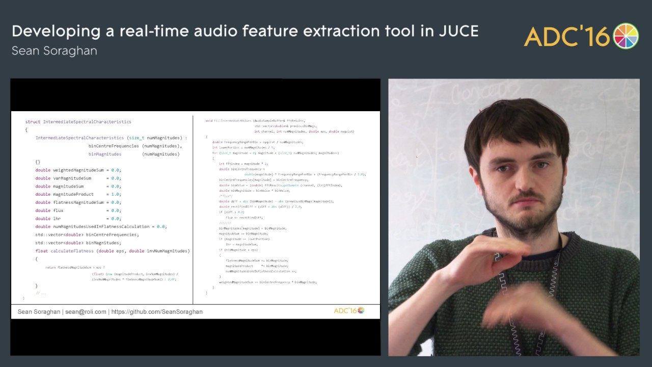 Real-time feature extraction with JUCE, Sean Soraghan (ROLI)