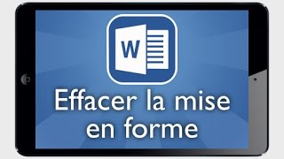 Tutoriel Word iPad - Effacer les mises en forme d'une image