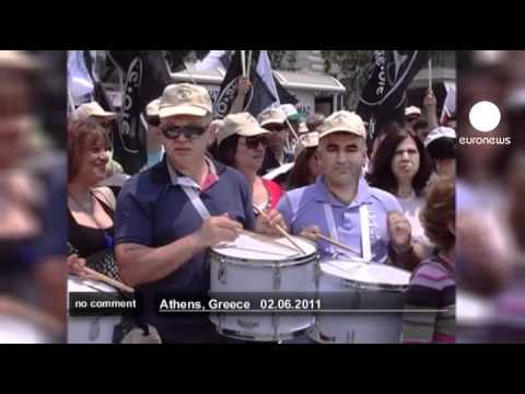 Telecom employees demonstrate in Greece - no comment
