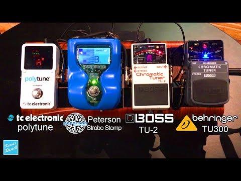 Ultimate Tuner Shootout: Boss TU-2 vs Behringer TU300 vs Peterson VS-S vs TC Electronics Polytune