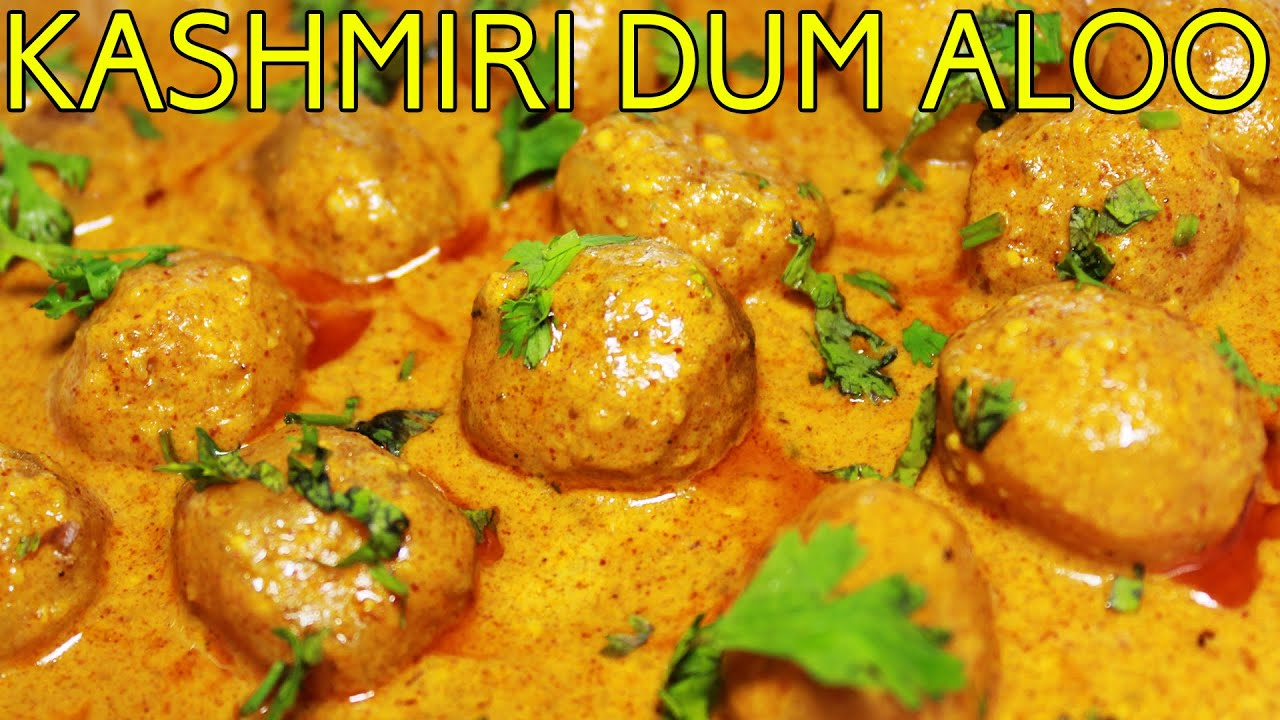 Authentic Kashmiri Dum Aloo Popular North Indian Main Course