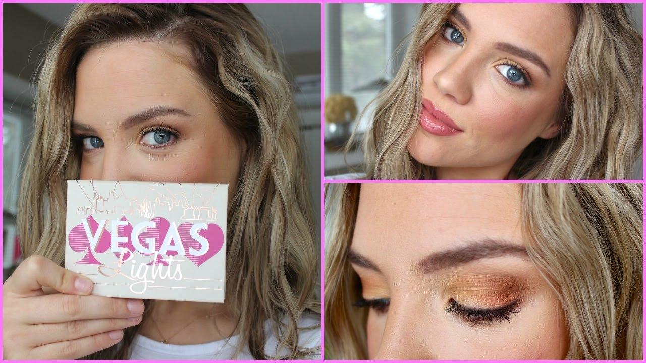 Makeup For Blue Eyes Makeup Geek Vegas Lights Palette Youtube