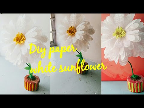 Diy paper white sun flower
